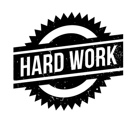 Hard Work rubber stamp