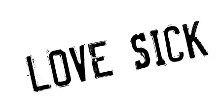 Love Sick rubber stamp
