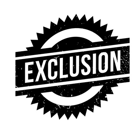 rejection: Exclusion rubber stamp