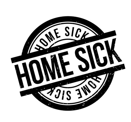 Home Sick rubber stamp Illustration