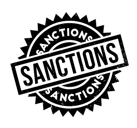 Sanctions rubber stamp Stock Vector - 86746912