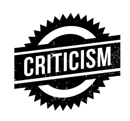 Criticism rubber stamp