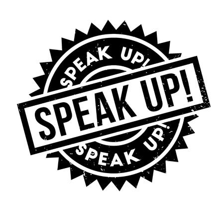 sir: Speak Up rubber stamp