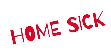 Home Sick rubber stamp Иллюстрация