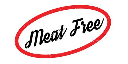 free range: Meat Free rubber stamp