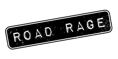 Road Rage rubber stamp