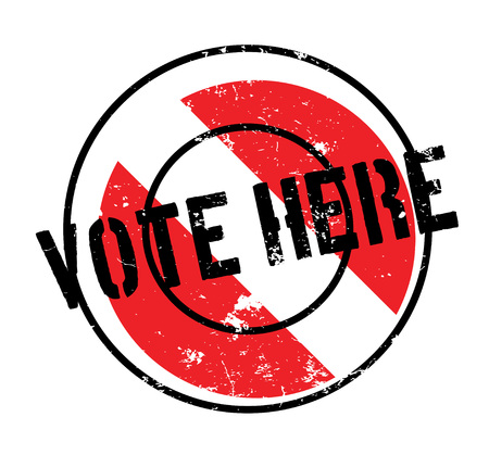 Vote Here rubber stamp Illustration