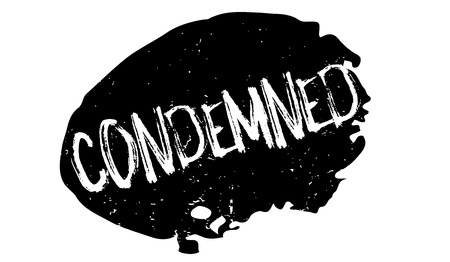 Condemned rubber stamp