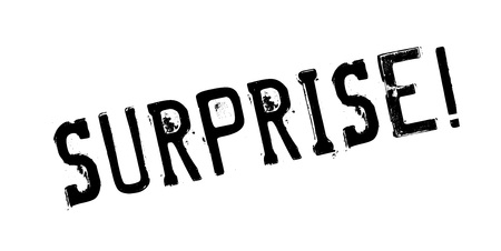 Surprise rubber stamp Stock Photo