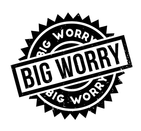 Big Worry rubber stamp Stock Photo
