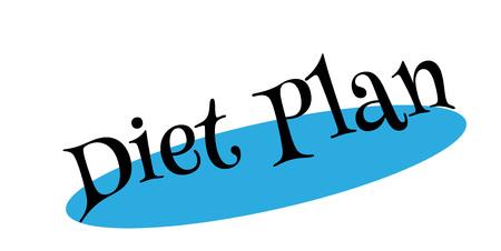 Diet Plan rubber stamp