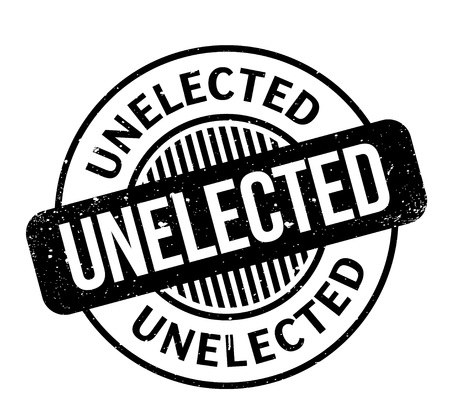 Unelected rubber stamp. Grunge design with dust scratches. Effects can be easily removed for a clean, crisp look. Color is easily changed.