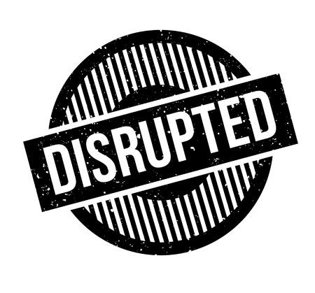 interruption: Disrupted rubber stamp