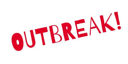 Outbreak rubber stamp Illustration