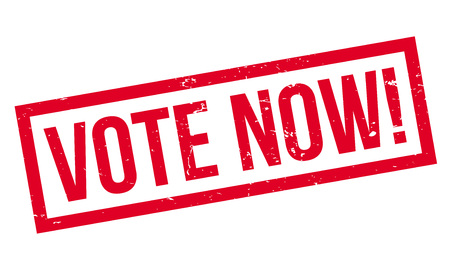 Vote Now rubber stamp