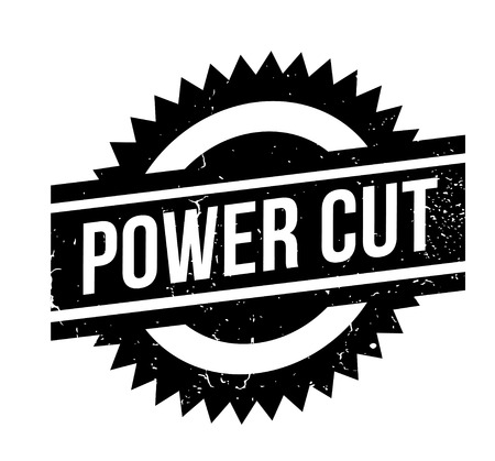 Power Cut rubber stamp