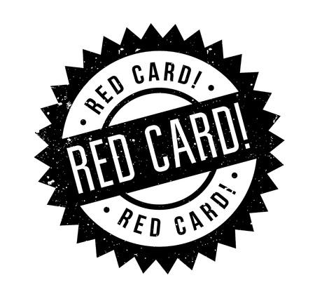 Red Card rubber stamp Illustration