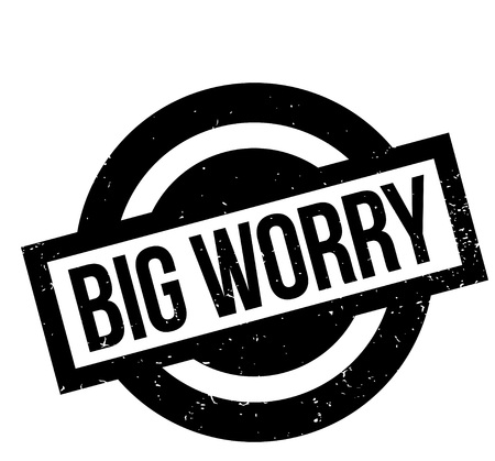 Big Worry rubber stamp Illustration
