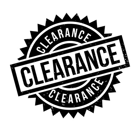 Clearance rubber stamp Illustration
