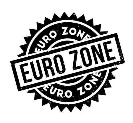 Euro Zone rubber stamp Stock Vector - 86962732