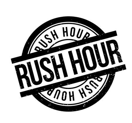 Rush Hour rubber stamp Imagens - 86962734