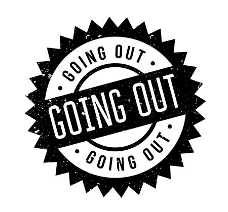 Going Out rubber stamp