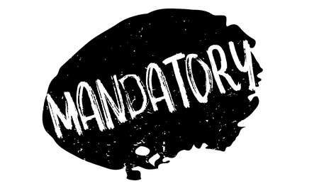 Mandatory rubber stamp