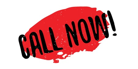 Call Now rubber stamp Иллюстрация