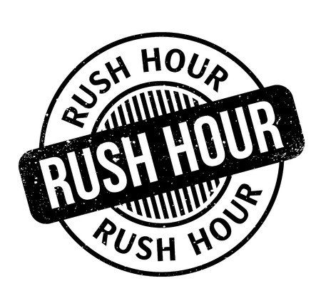 Rush Hour rubber stamp Imagens - 86962993