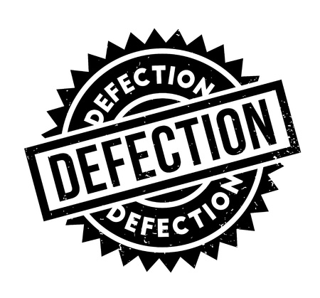 Defection rubber stamp Stock Vector - 86963018