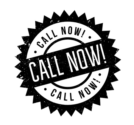 Call Now rubber stamp Illustration