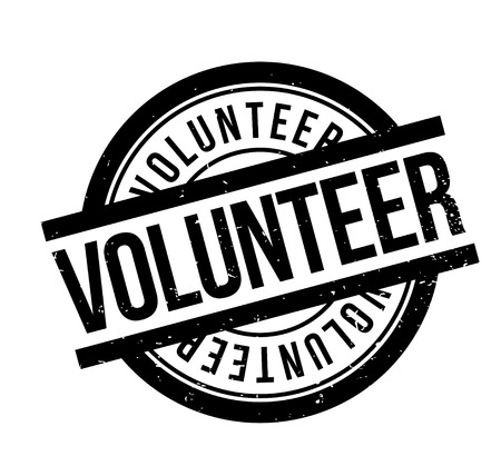 Vrijwilligers rubberzegel