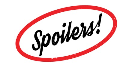 Spoilers rubber stamp Stock Photo