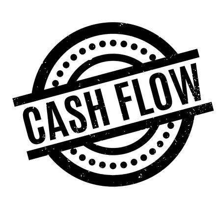 Cash Flow rubber stamp Imagens