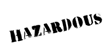 Hazardous rubber stamp
