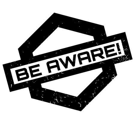 Be Aware rubber stamp Stok Fotoğraf