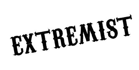 Extremist rubber stamp Banco de Imagens - 87046235