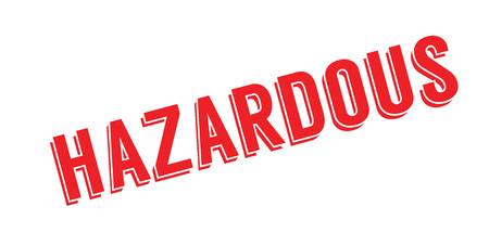 Hazardous rubber stamp