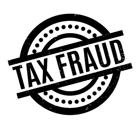 Tax Fraud rubber stamp Stock Vector - 87046343