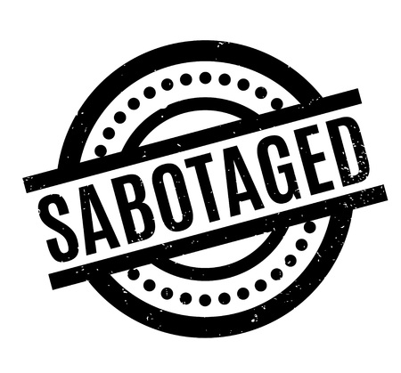 Sabotaged rubber stamp