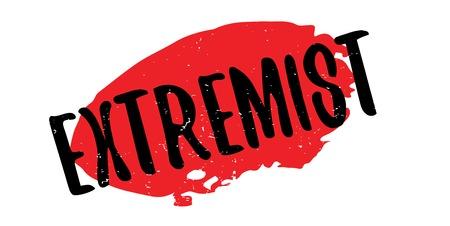 intolerancia: Sello de goma extremista Vectores