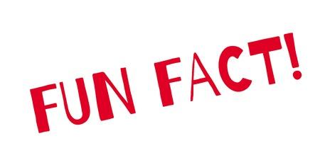 Fun Fact rubber stempel