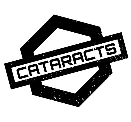 clouding: Cataracts rubber stamp Illustration