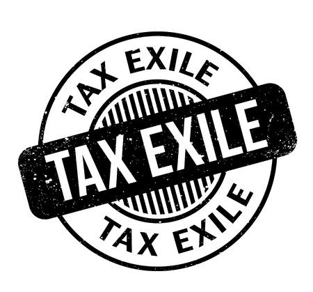 Impuestos Exilio sello de goma