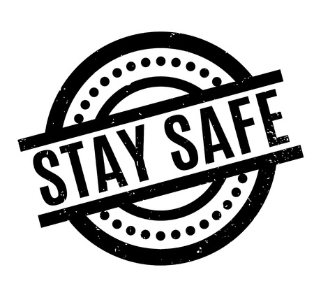 unsafe: Stay Safe rubber stamp