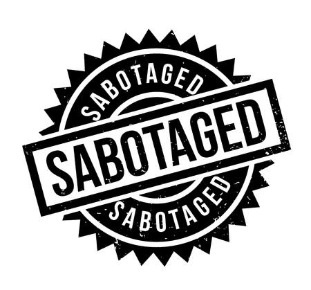 Sabotageerde rubberzegel Stockfoto