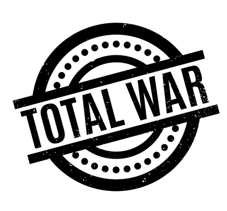 Total War rubber stamp Stock Photo