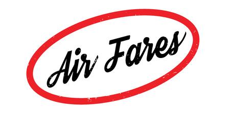 航空運賃のゴム印 写真素材