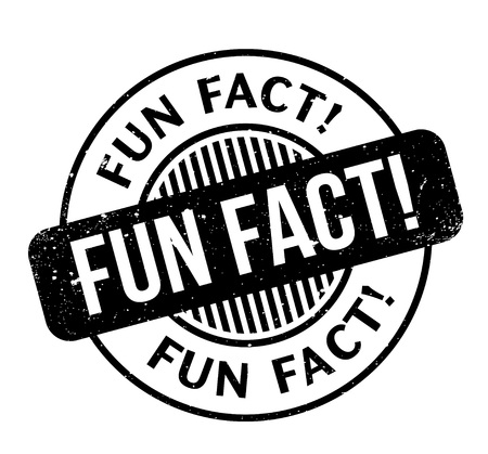 Fun Fact rubber stamp