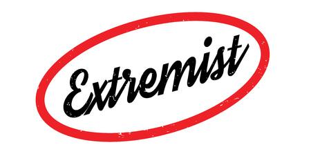 Extremist rubber stamp Banco de Imagens - 87046671